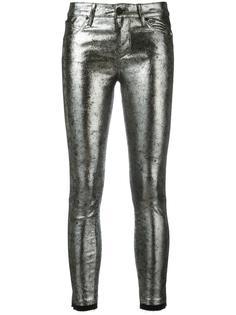 металлизированные обтягивающие джинсы Rta