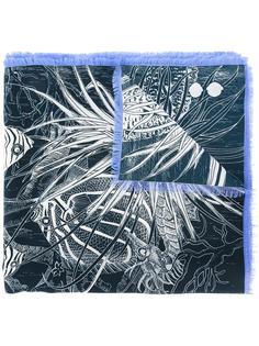 sealife print scarf Odeeh