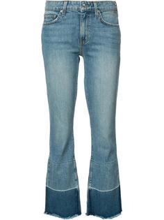 слегка потертые укороченные джинсы Derek Lam 10 Crosby