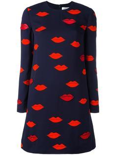 платье с принтом губ Victoria Victoria Beckham