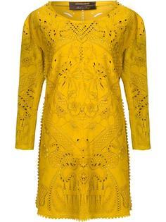 платье с декоративными вырезами Roberto Cavalli