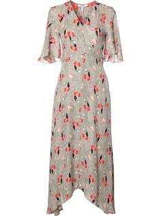 асимметричное платье с цветочным рисунком Derek Lam 10 Crosby