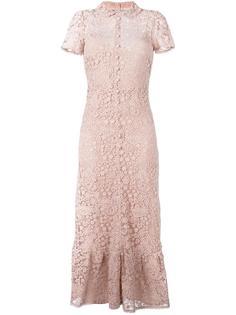 длинное платье из макраме Red Valentino
