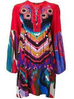 жаккардовое платье-шифт с цветочным рисунком Roberto Cavalli