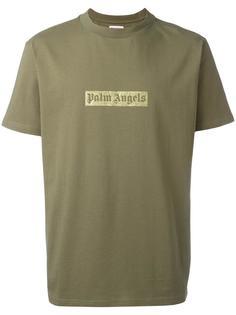 футболка с логотипом и мелкими блестками Palm Angels