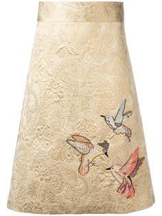 embroidered brocade skirt Red Valentino