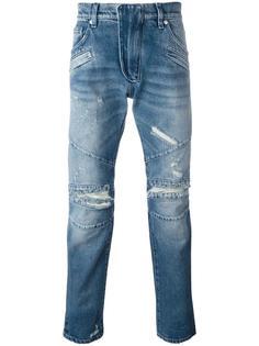 рваные узкие джинсы Pierre Balmain