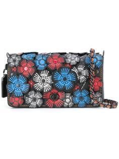 сумка на плечо с цветочным украшением Coach