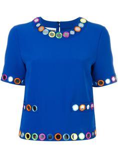 декорированная блузка с короткими рукавами Moschino
