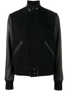 куртка-бомбер со звездами на воротнике Saint Laurent