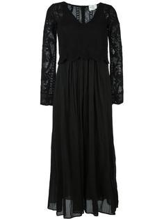 полупрозрачное платье с длинными рукавами Forte Forte
