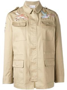 куртка с вышивкой птицы Red Valentino