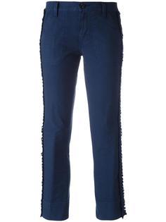 укороченные брюки с лампасами Tory Burch