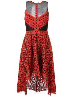 асимметричное платье с полупрозрачными вставками Jonathan Simkhai