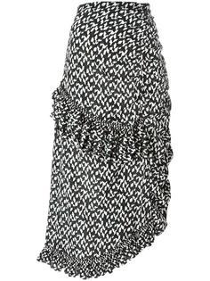 асимметричная юбка с геометрическим узором  Marni