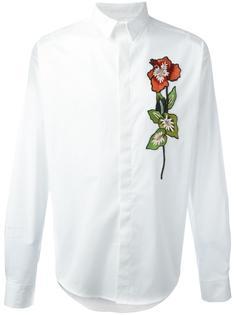 рубашка с вышитым цветком Christian Pellizzari
