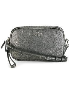 сумка через плечо с отделкой металлик Coach