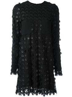 платье-шифт с узором из кружков Carven