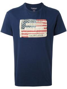 футболка с нашивкой в виде флага США Ralph Lauren