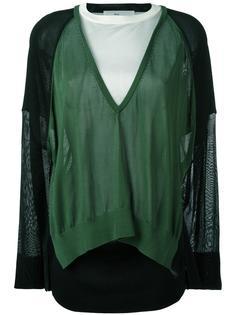 свитер с контрастными вставками Toga