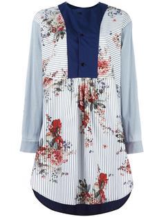 платье-рубашка с контрастной манишкой Antonio Marras