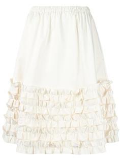 юбка длины миди с рюшами Paskal