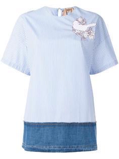 блузка с джинсовой вставкой Nº21