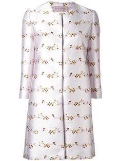 жаккардовое пальто с цветочным узором Giambattista Valli