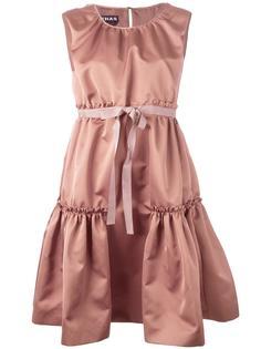 многоярусное платье со сборками Rochas