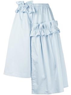 асимметричная юбка с рюшами Paskal