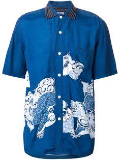 рубашка с принтом японского дракона Junya Watanabe Comme Des Garçons Man
