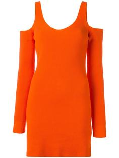 cut-off detail knitted dress Mm6 Maison Margiela
