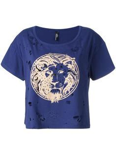 рваная футболка с логотипом Versus