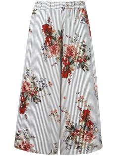 укороченные брюки с цветочным рисунком Antonio Marras