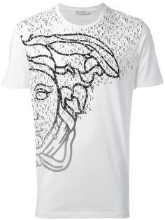 футболка с принтом-логотипом Versace Collection