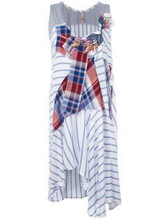 полосатое платье в стиле пэчворк Antonio Marras