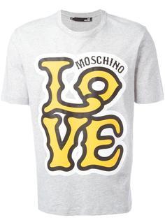 футболка с принтом-логотипом Love Moschino