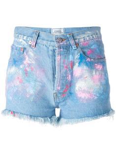 джинсовые шорты с красочными мазками Forte Couture