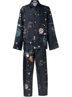 пижама с принтом космических объектов Valentino