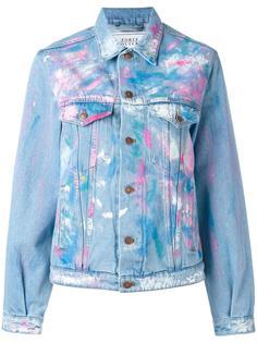 джинсовая куртка с красочными мазками Forte Couture