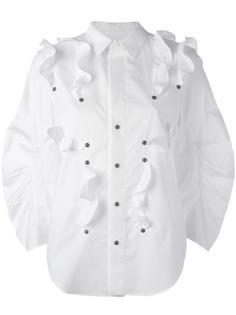 рубашка с оборками и заклепками Toga