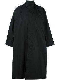 long cape coat Issey Miyake