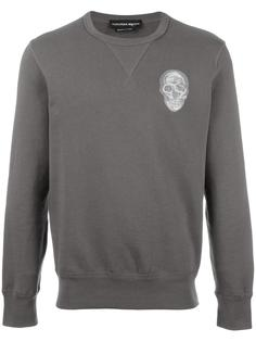 skull embroidered sweatshirt Alexander McQueen