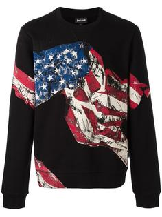 American flag printed sweatshirt Just Cavalli