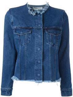 raw-edge denim jacket  Marquesalmeida