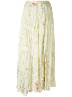 длинная юбка с разрезом сбоку Forte Forte