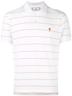 полосатая футболка-поло Ami Alexandre Mattiussi
