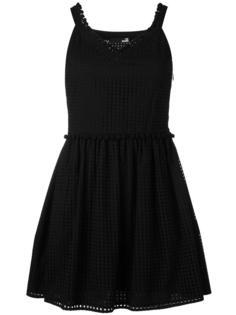 короткое платье с перфорацией Love Moschino