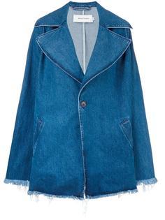 объемное джинсовое пальто Marquesalmeida