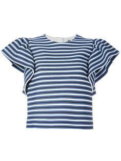 полосатая блузка с оборками на рукавах MSGM
